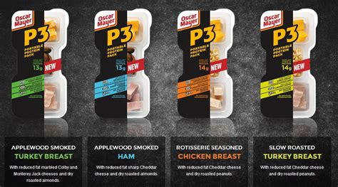 protein 3 pack news oscar mayer new p3 portable protein packs brand