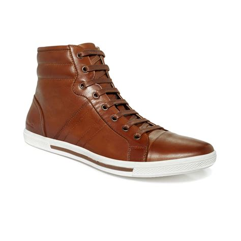 kenneth cole high top sneakers kenneth cole tonight hitop sneakers in brown for