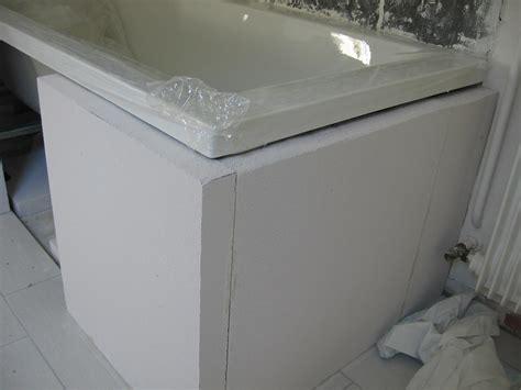 faire tablier baignoire plage de baignoire en siporex comment carreler