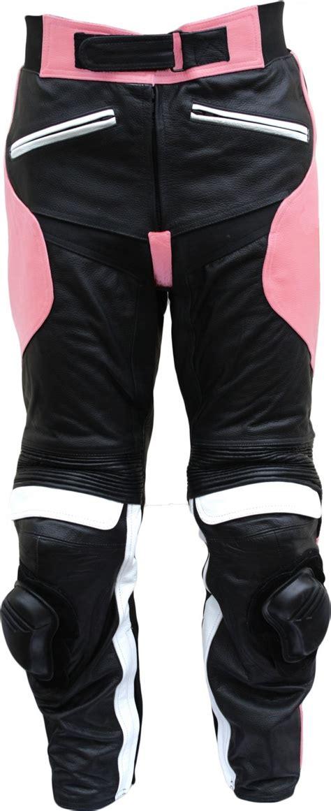 Motorradhose Damen Pink damen motorradhose motorrad biker racing lederhose
