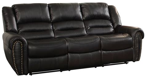 homelegance reclining sofa reviews center hill black power double reclining sofa from