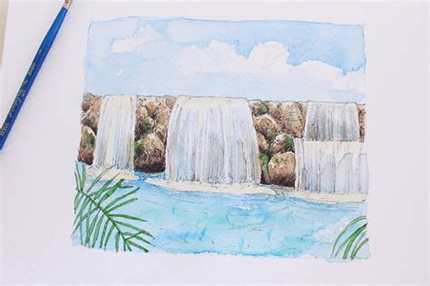 watercolor waterfall tutorial learn how to draw a waterfall in this step by step tutorial