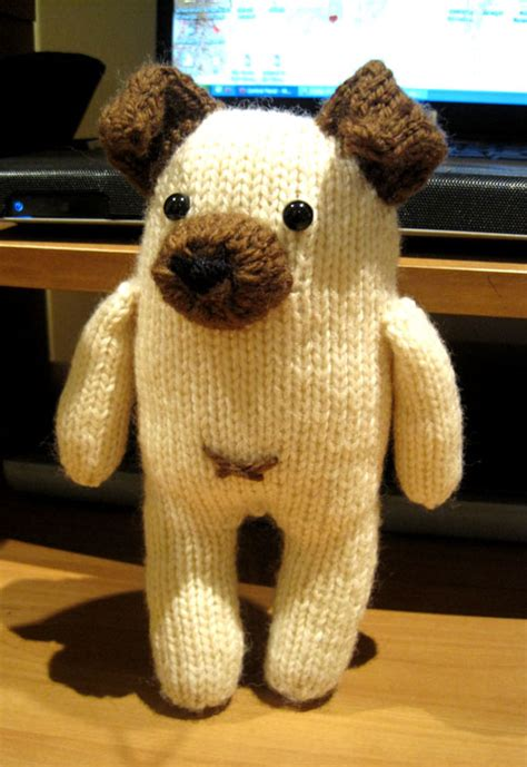 pug knitting pattern knits and bits queenie chan