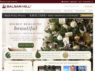 balsam hill christmas tree co rated 3 5 stars by 135