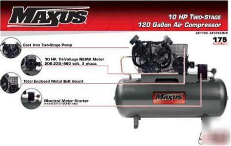 maxus  hp  gallon horiz  stage air compressor