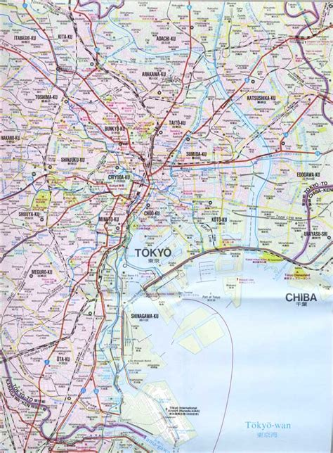 map of tokyo maps of tokyo