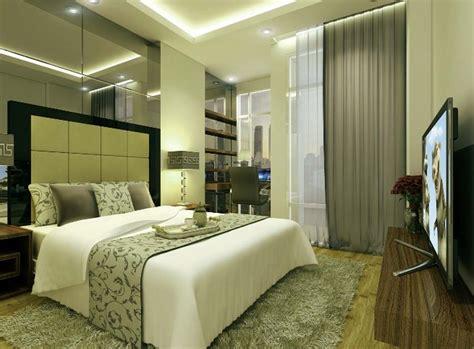 desain kamar tidur utama ukuran kecil  konsep