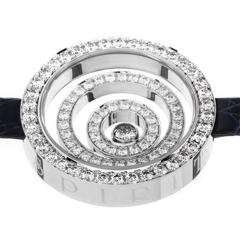 Chopard Number Leather White 1 chopard happy spirit 18k white gold leather arm