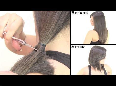 como cortar el cabello corto c 243 mo cortar el cabello estilo bob quot cambio de look quot bob