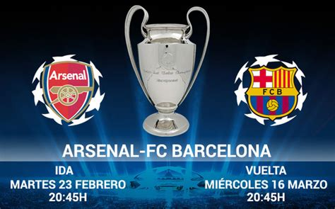 Calendario De Arsenal Sorteo Chions League Arsenal Fc Barcelona En Octavos