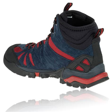 merrell capra mid mens blue tex waterproof walking