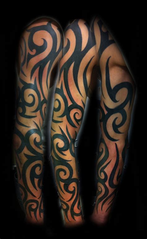 tribal quarter sleeve tattoo designs tatto tribal half sleeve tattoos for women