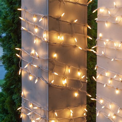 christmas column wraps net lights 6 quot w x 15 h column wrap 150 white lights white wire