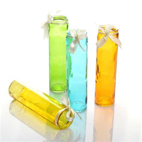 Cylinder Flower Vases by Optical Glass Flower Stand Color Cylinder Flower Bottle