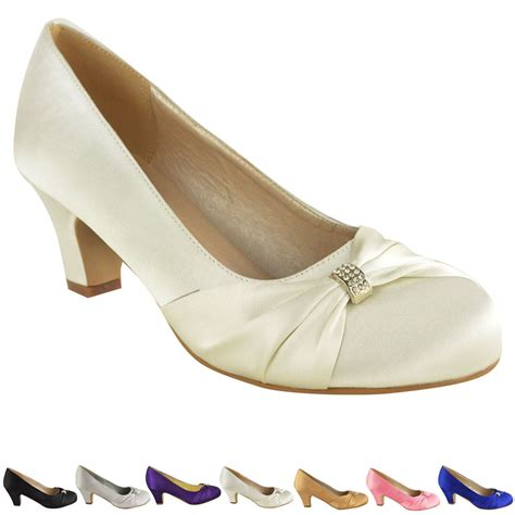womens wedding bridal prom shoes low heel