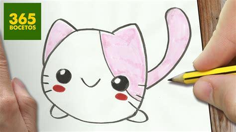 imagenes bonitas para dibujar kawaii como dibujar gato kawaii paso a paso dibujos kawaii
