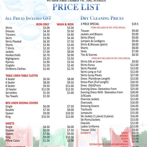 House Cleaning Price List Our Price Print Edition Finance And Economics Housekeeping Flyers House Cleaning Price List Template