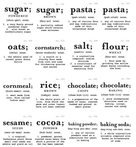 Pantry Labels by The Sweeting Spot Pantry Labels And