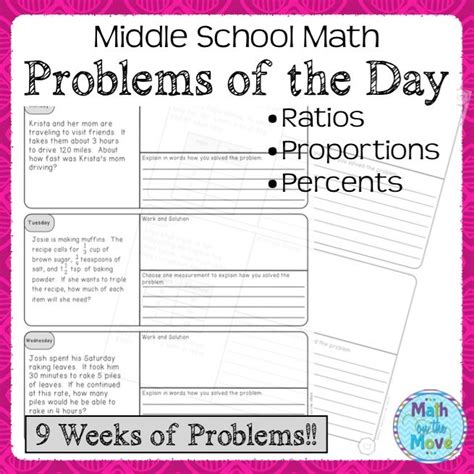 start each day with a real world problem this is a set of