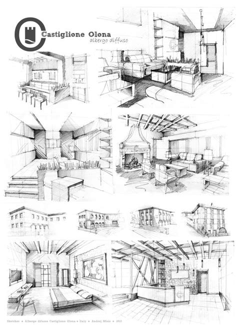 decorative sketches architecture and design influenced by nature in early 20th century books interior sketches arch student