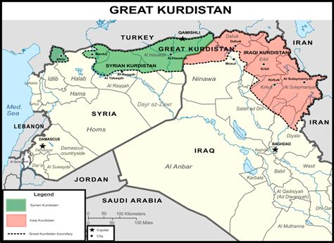 kurdistan map inside syria media center breaking state of great kurdistan to be created in syria and iraq