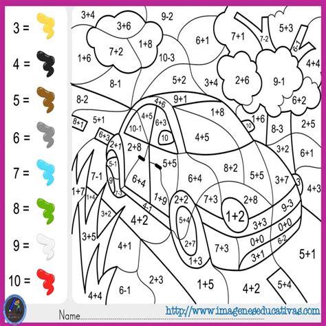 imagenes matematicas para colorear 15 dibujos para colorear de numeros del 1 al 5