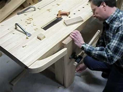 roubo workbench features part  youtube