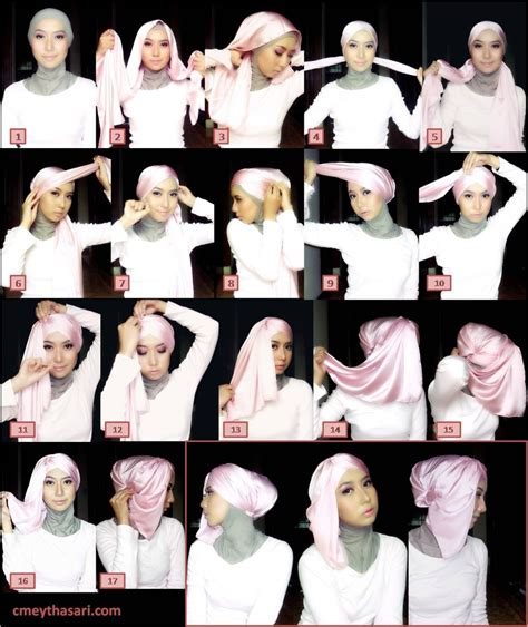 tutorial hijab pashmina satin formal tutorial hijab satin terbaru modis