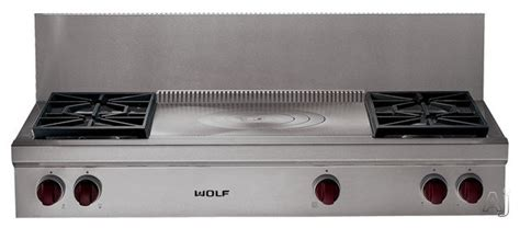 48 inch gas cooktop wolf srt484fx 48 inch pro style gas range top