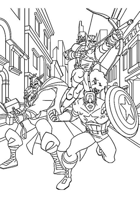 Avengers da colorare