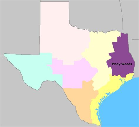 piney woods texas map map of texas