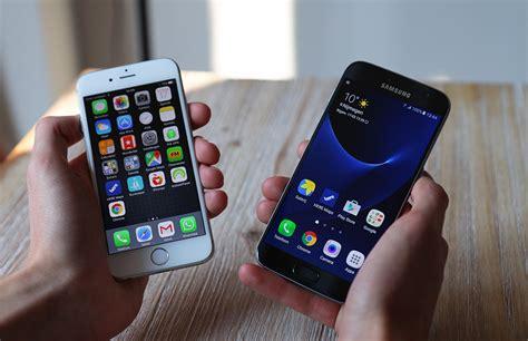 samsung galaxy s7 vs iphone 6s strijd der vlaggenschepen