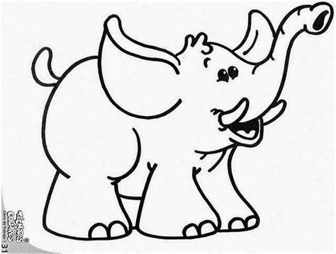 imagenes para colorear elefante maestra de infantil dibujos infantiles de animales para