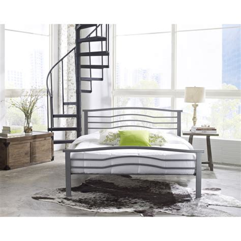 metal bed frame queen walmart marita queen metal platform bed frame nickel walmart com