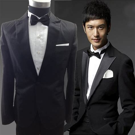 19642 White Black Suit wedding black white suits dress lounge suit wedding tuxedos wedding suits