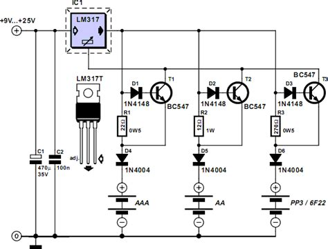 nicd battery charger circuit diagram gt circuits gt switchless nicd nimh battery charger l55051