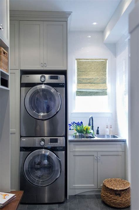 laundry mud room designs small bathroom design with washer and dryer laundry or mud room combo with gray shaker cabinets