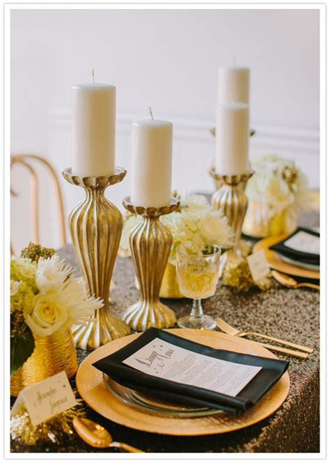 Black White Gold New Year S Wedding Ideas Wedding Black And Gold Wedding Centerpieces