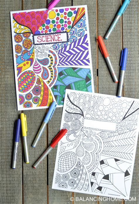 how to design your art book coloring page binder cover printable balancing home with