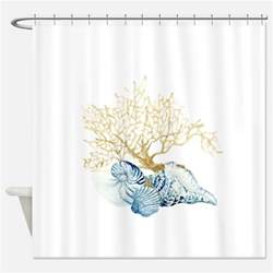 sea shell shower curtains sea shell fabric shower