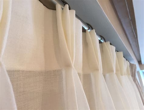how to make french pleat drapes custom ivory linen drapery modern sheer drapery pinch