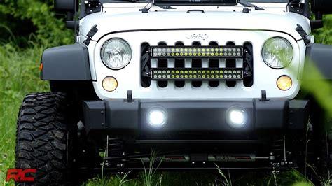 jeep jk led fog lights installing 2007 2017 jeep wrangler jk square 2 inch led