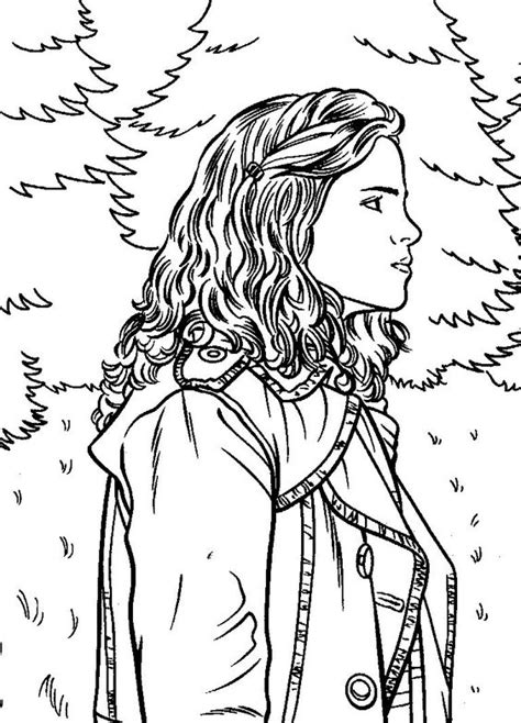 harry potter coloring book mugglenet harry potter coloring pages hermione jpg 768 215 1067