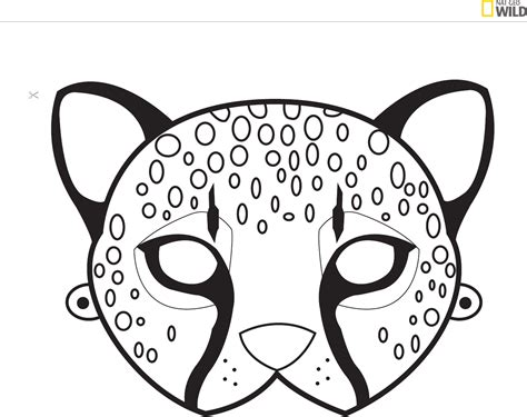 printable leopard mask animal mask template wild kratts or animal party