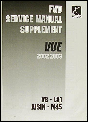 2002 2003 saturn vue repair shop manual 4 volume set original
