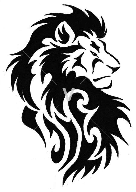 stencil lion clipart best