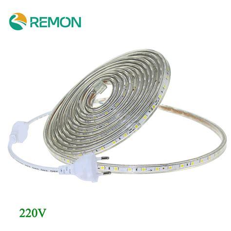 Lu Smd Led Strips Ac 220v Led Light Smd 5050 60leds M Ip67 Waterproof