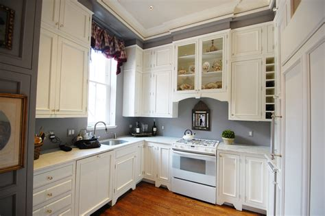 White Kitchen Wall Cabinets by Exquisite Grey Walls Kitchen The Color Effect