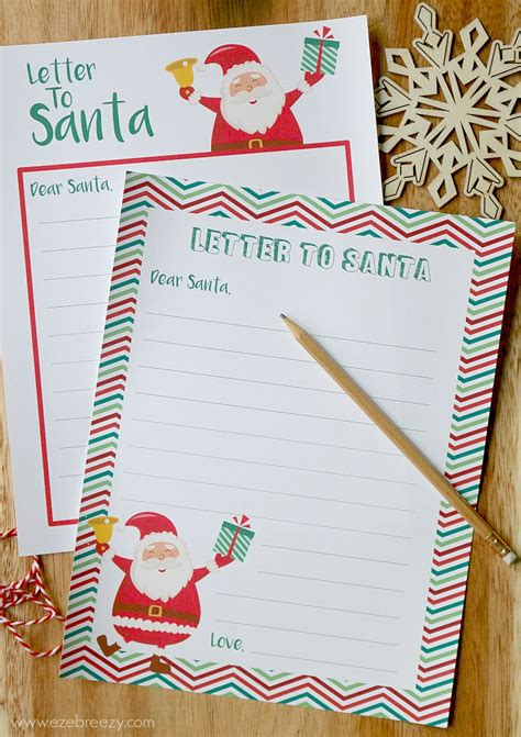 free printable letters to father christmas letter to santa free printable for all your child s
