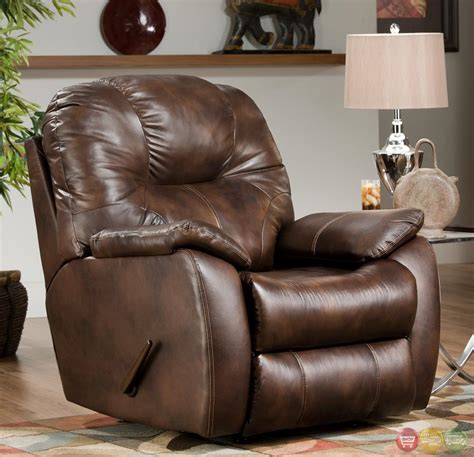 Brown Leather Rocker Recliner Chair Southern Motion Rocker Recliner Avalon Brown Bonded